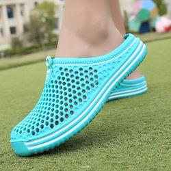 POLALI womens sandalias 2018 sandalias de verano de moda ahueca hacia fuera transpirable zapatillas de playa chanclas EVA masaje zapatillas Sandalias