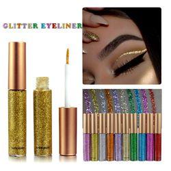 New Brand 10 Colors White Gold Glitter Eyeliner Eyeshadow For Waterproof Easy to Wear Liquid Eyeliner Makeup Eye Liner Beauty