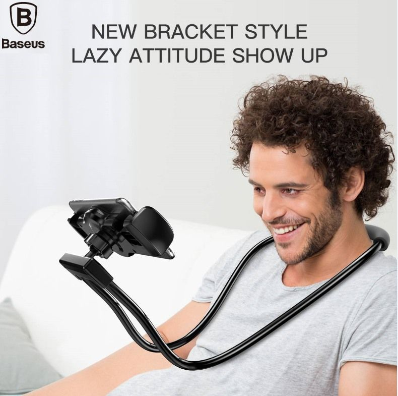 BASEUS Brand New Style Necklace Lazy Bracket Use for Lying & Sitting & Standing For iPhone Universal 4-10 inch Cellphone & Pads