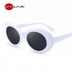 Uvlaik Pria Wanita Pengaruh Kacamata Kacamata UV400 Cermin Nirvana Kurt Cobain Kacamata Hitam Klasik Fahion Wanita Pria Berjemur Kacamata