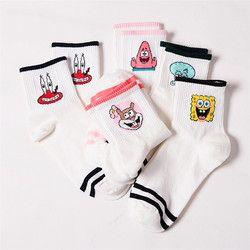 Модная одежда с героями мультфильма; милые короткие носки женские Харадзюку милый узорный лодыжки носки до лодыжки хипстер скейтборд лодыж...