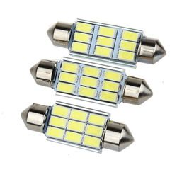 Super Bright 9 LED 5630 5730 SMD Festoon C5W CANBUS Auto Car Dome Door License plate Map Light Bulb 12V 36/39/42mm