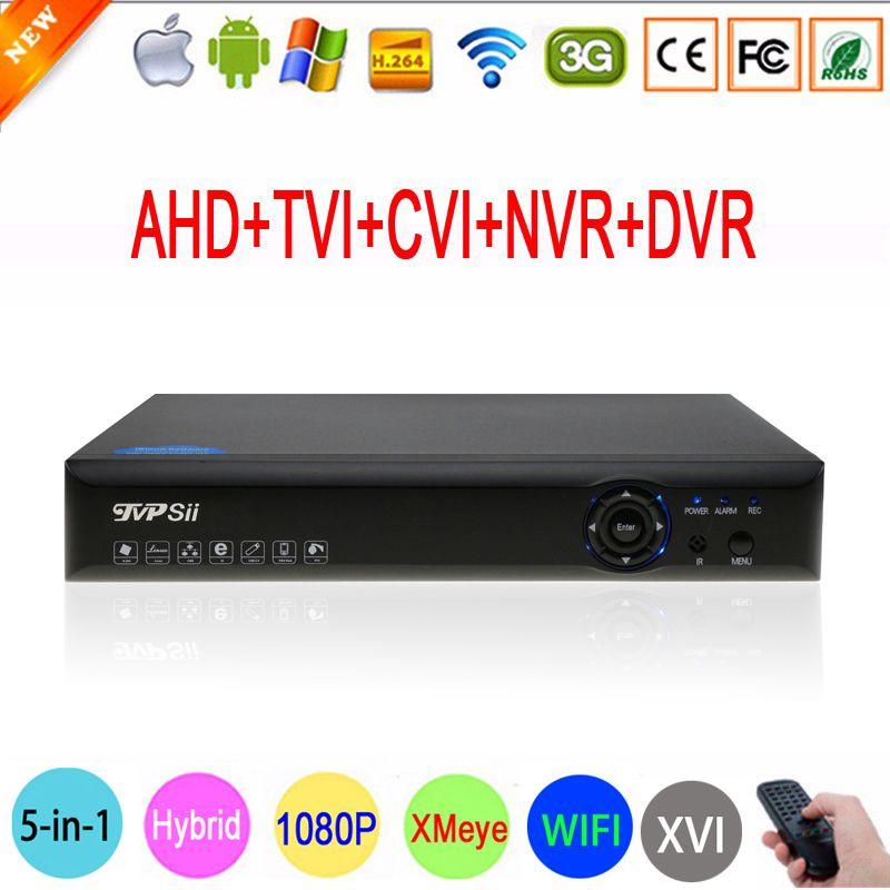 Blue-Ray Hi3521A 1080N 16 Channel 16CH Surveillance Video Record 6 in 1 Wifi Hybrid Coaxial XVI NVR CVI TVi AHD DVR FreeShipping