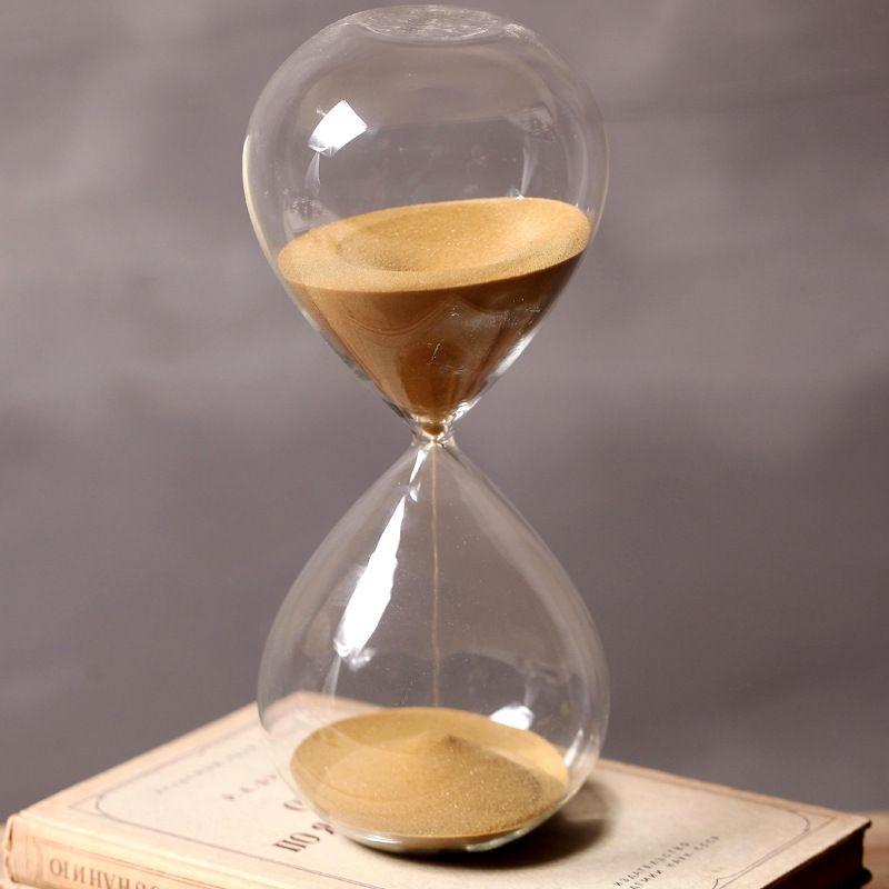 60 Minutes Calendrier Sablier Hauteur 24 cm Creative Cadeau De Sable De Verre Minuterie Sablier Sable Doré Décoration reloj de arena