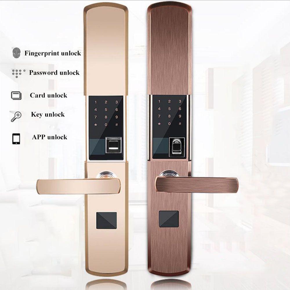 Fingerprint Lock Für Hause Anti-diebstahl Türschloss Keyless Smart Lock Mit Digital Passwort APP Entsperren Elektromagnetische karte lock