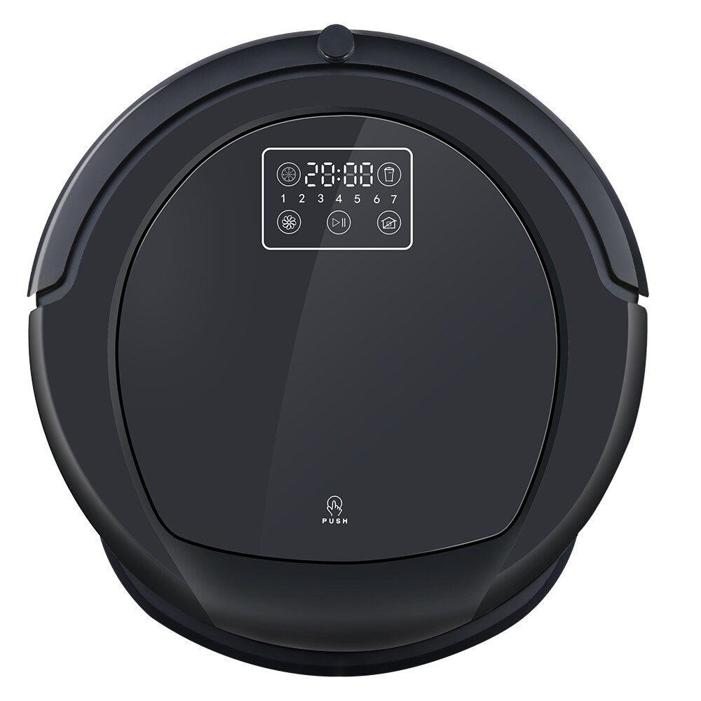 robot vacuum cleaner B6009 in pure black ,Map Navigation multi-function,Smart Memory Adjustable suction power,dry/wet mop