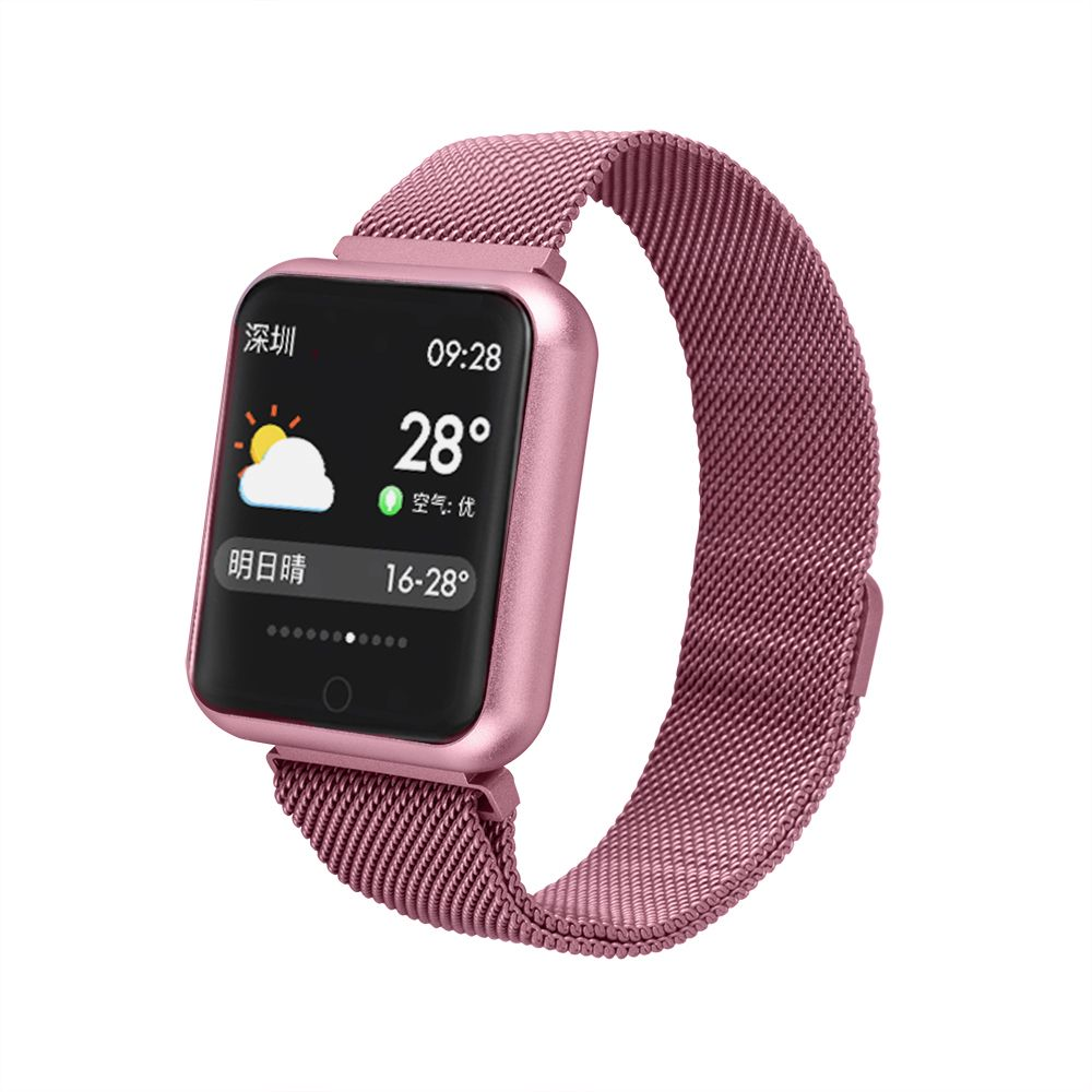 P68 sports Wristbands Smart Band Heart Rate Monitor Fitness Bracelet IP68 Waterproof Smart Band Bluetooth for IOS Android Phone