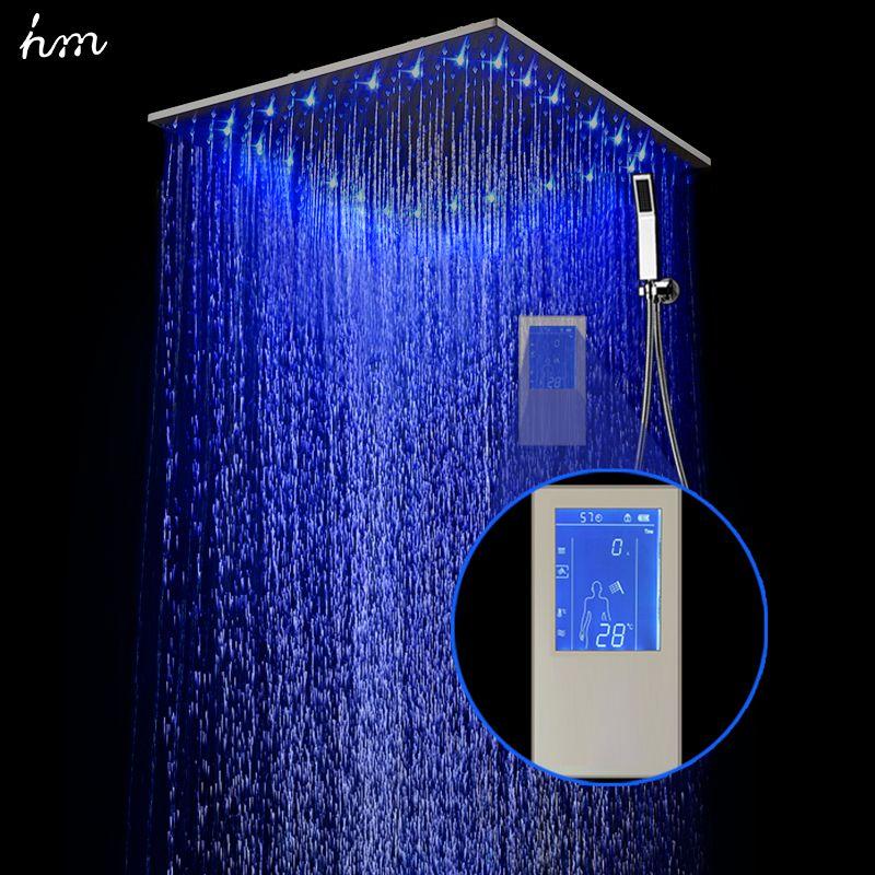 Hm Intelligente Digitale Display Regen Dusche Set Installiert in wand 2 Jets LED 24