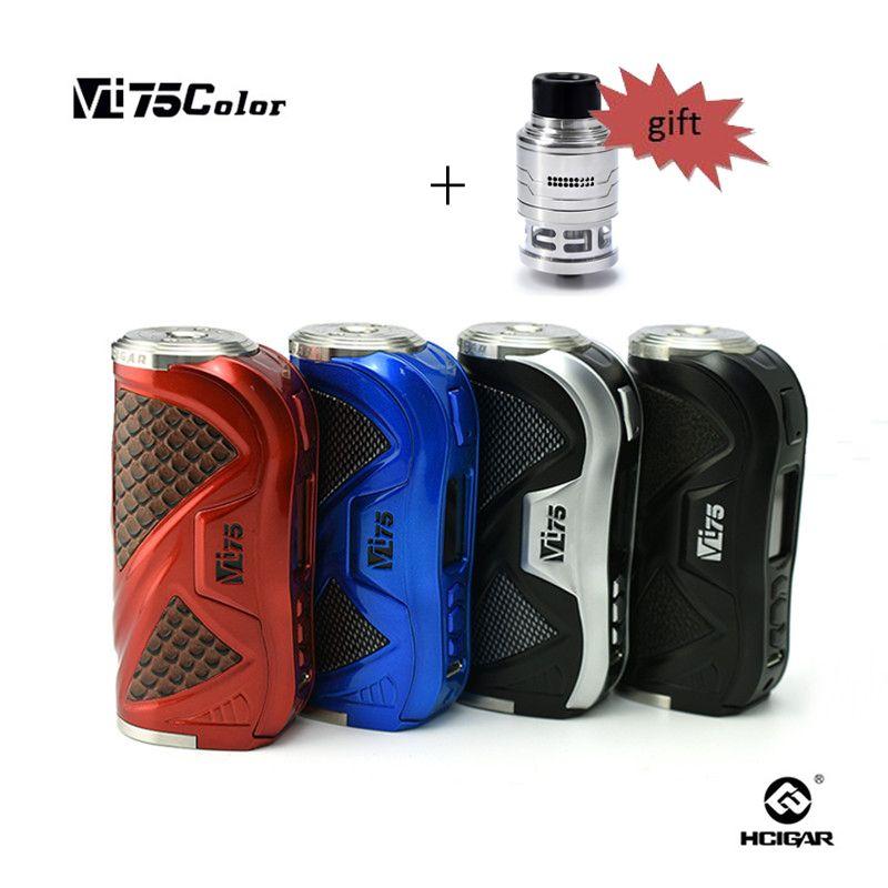 Original HCigar 75 watt MOD VT75 farbdisplay TC e-zigaretten VT75C Box vape mod box mit neueste Evolv DNA75 Farbe chip