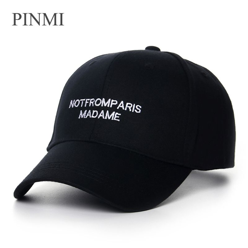 PINMI Black Baseball Cap Women 2017 Snapback Hip Hop Caps White Outdoor Casual Summer Hat For Women Embroidery Bone Casquette