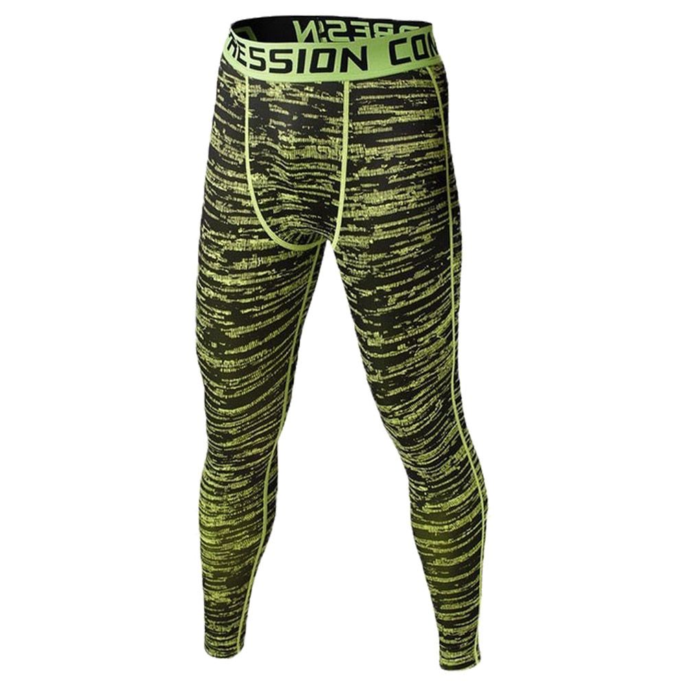 Hot Men Compression Long Pants Running Base Layers Skins Tights Army Camouflage Soccer Joggers Trousers