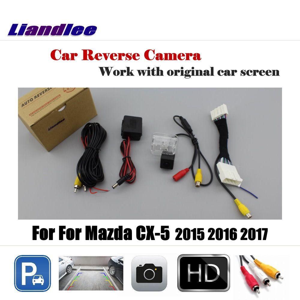 Liandlee Car Reverse Rearview Camera For Mazda CX-5 CX 5 CX5 2015 2016 2017 Original Screen / HD CCD Backup Parking Camera