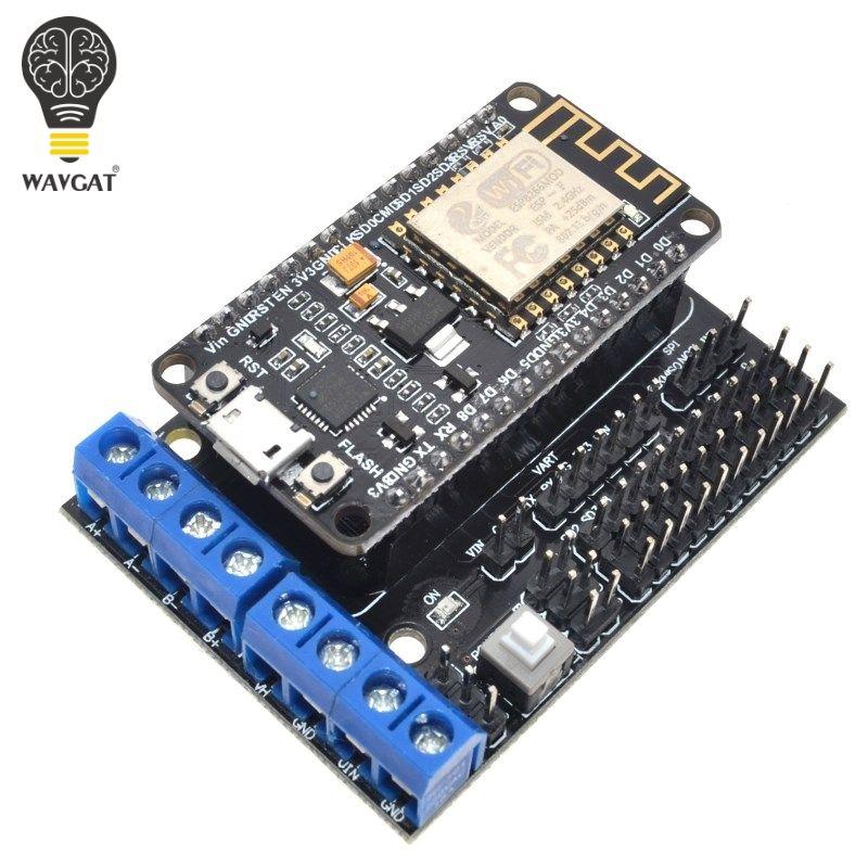 Knoten MCU Development Kit NodeMCU + Motor Schild Esp Wifi Esp8266 Esp-12e diy rc spielzeug fernbedienung Lua IoT smart auto Esp12e