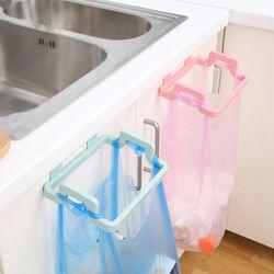 1pcs Hanging Trash Rubbish Bag Holder Papelera Garbage Rack Cupboard Cabinet Storage Rag Hanger Trash Can Bin 2017 New Arrival