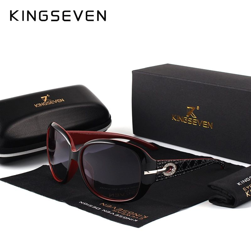 KINGSEVEN Brand Design Sunglasses Women Polarized <font><b>Elegant</b></font> Ladies Sun Glasses Female Eyewear Summer Oculos De Sol Shades 7214