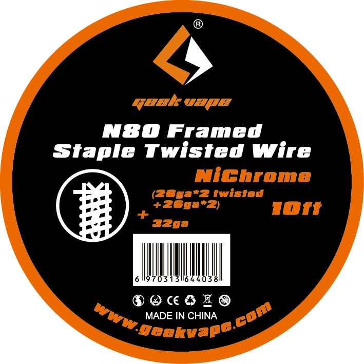 original GeekVape N80 Framed Staple twisted wire (26ga*2 twisted+26ga*2)+32ga for vape tank ecig accessory
