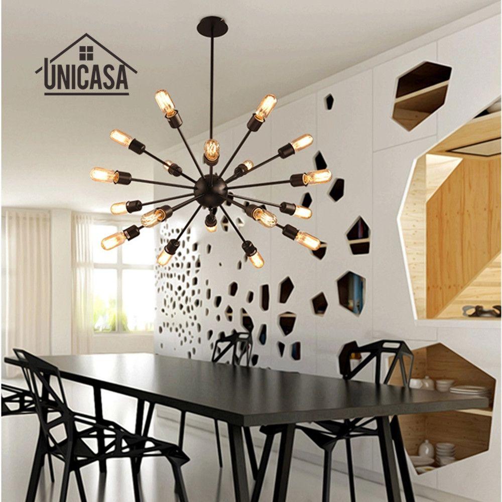Grandes lampes suspendues en fer forgé éclairage industriel Vintage plafonnier moderne Bar d'hôtel cuisine pendentif LED plafonnier