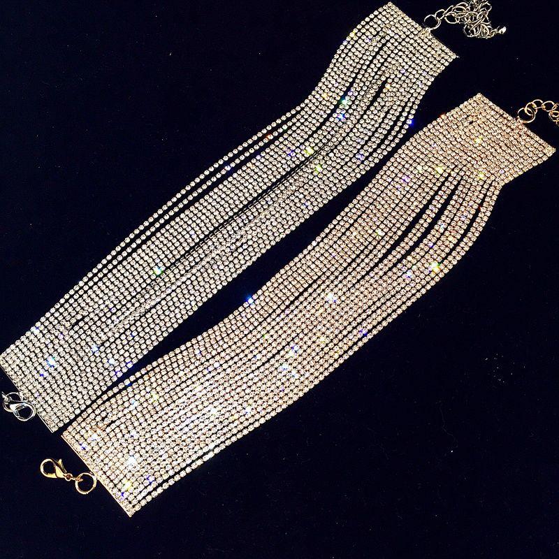 Collier de luxe strass ras du cou cristal Maxi déclaration 2017 collier de Chokers de mariage multicouches accessoires de bijoux de mode