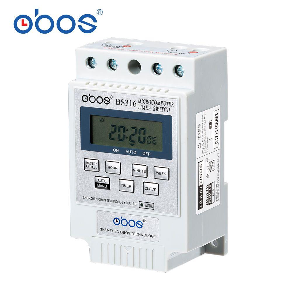 Minuterie BS316 (KG316T) micro-ordinateur Intelligent Programmable commutateur de distribution électronique relais contrôleur divers choix de tension