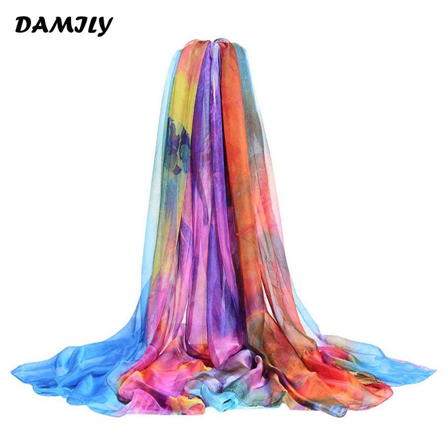 Sarong été mince imprimé écharpe grande taille femmes châle foulards paréo plage couverture Ups Bikini robe hawaïenne Wrap écharpes
