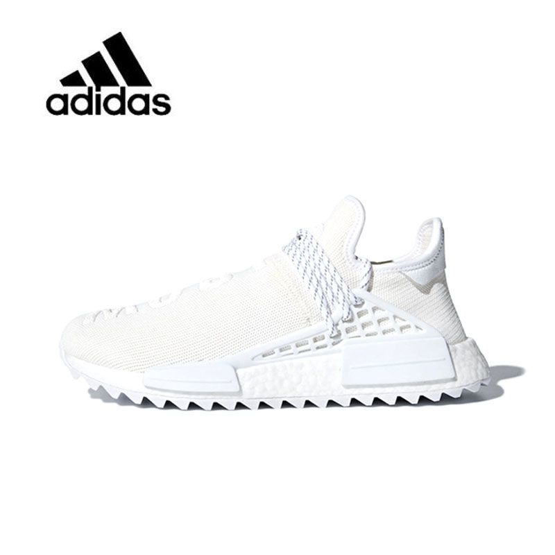 Original New Arrival Authentic Adidas Pharrell X Adidas Hu Trail Blank Canvas Mens and Womens Running Shoes Sneakers