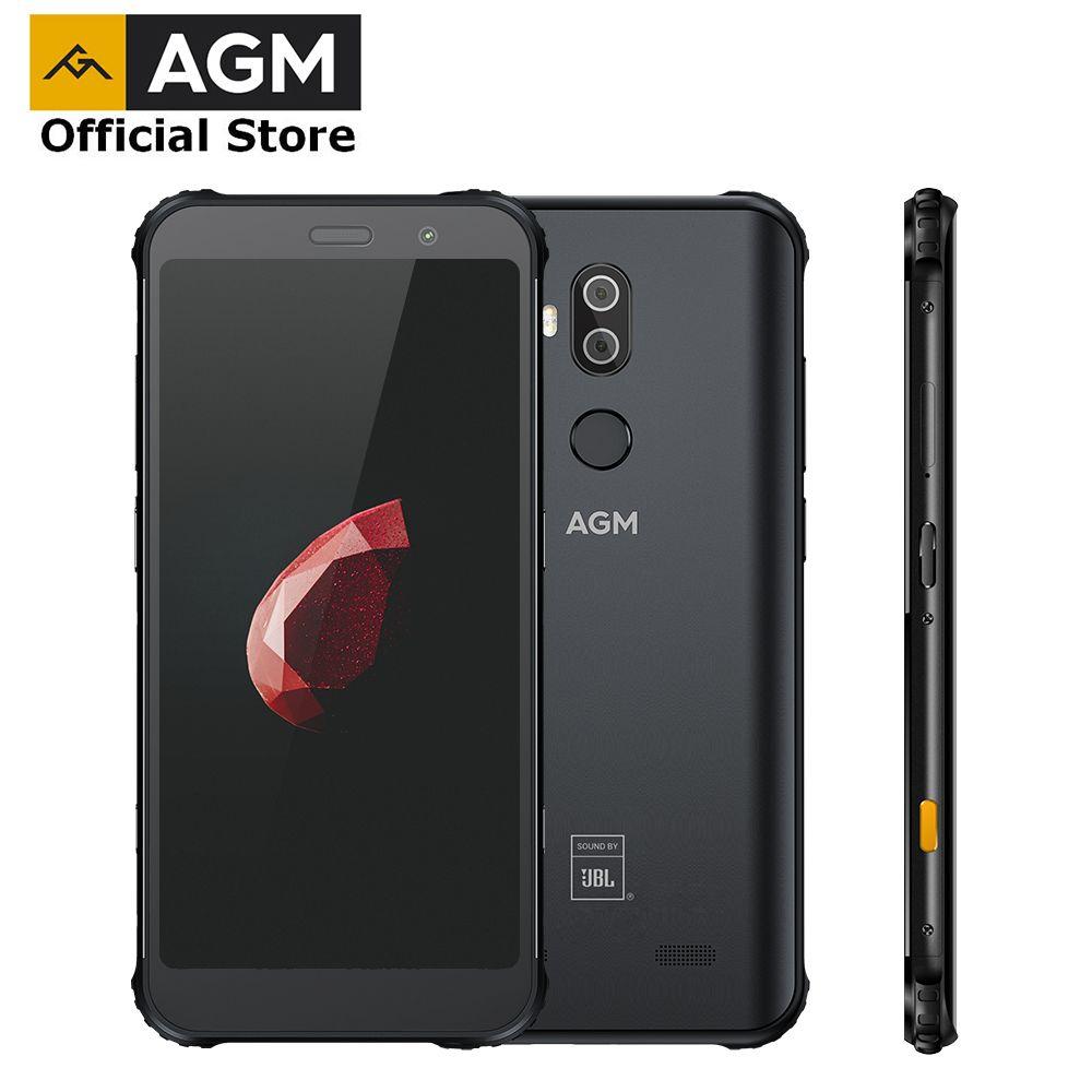 OFFIZIELLE AGM X3 JBL-Cobanding 5,99 ''4G Smartphone 8G + 128G SDM845 Android 8.1 IP68 Wasserdicht handy Dual BOX Lautsprecher NFC