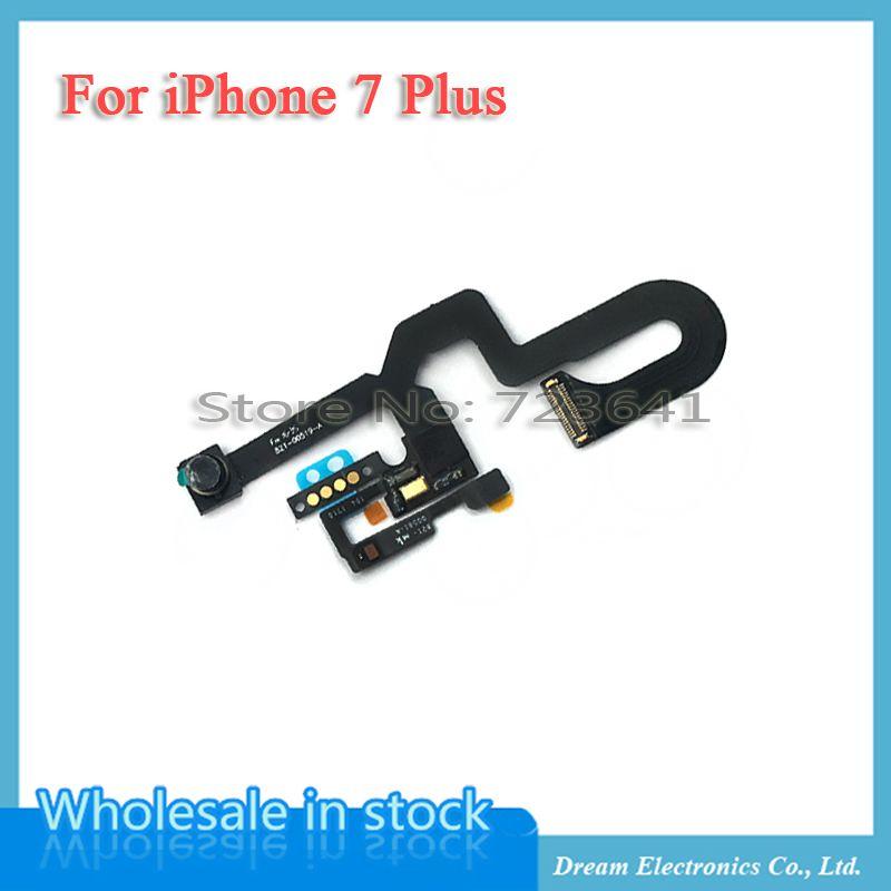 MXHOBIC 5 pcs/lot Avant Face À la Caméra Module de Lumière de Proximité Capteur Flex Câble pour iPhone 7 Plus Pièces De Rechange Livraison Gratuite