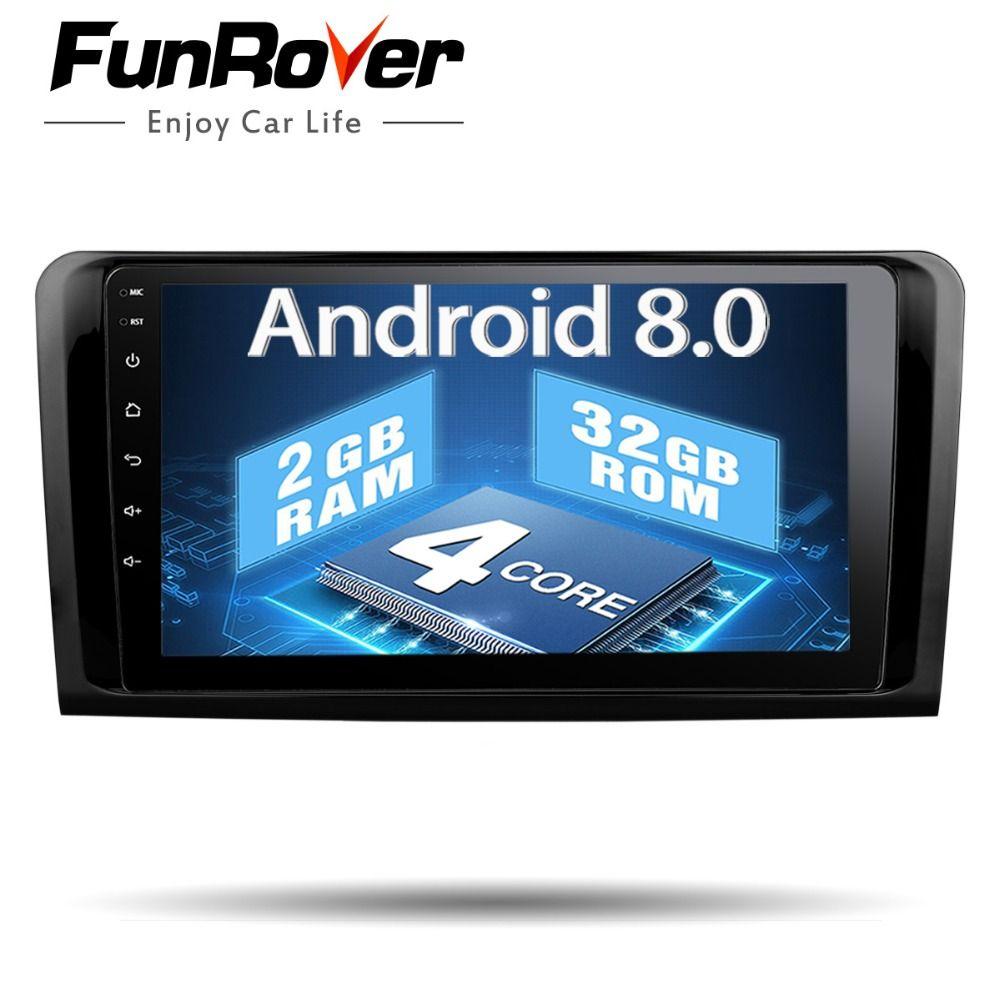 Funrover 2 din Car Multimedia Player GPS Car Radio For Mercedes Benz W164 ML300 ML350 ML500 GL320 RDS USB wifi video BT no DVD