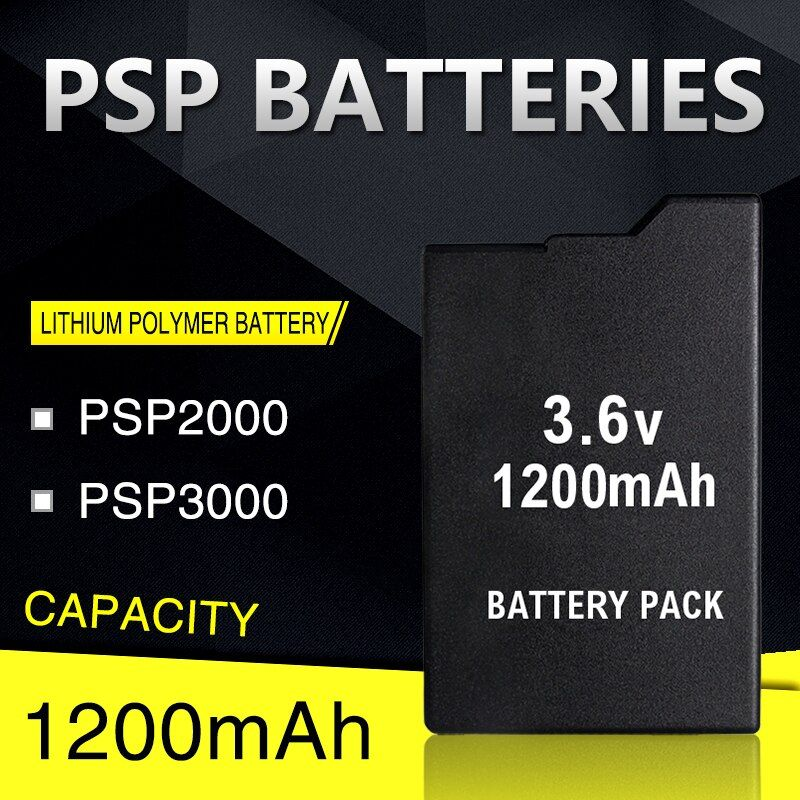 Blackhorns game accessories for PSP Battery with 1200mAh For SONY Lite,PSP 2th,PSP-2000,PSP-3000,PSP3001,PSP Silm Free Shipping
