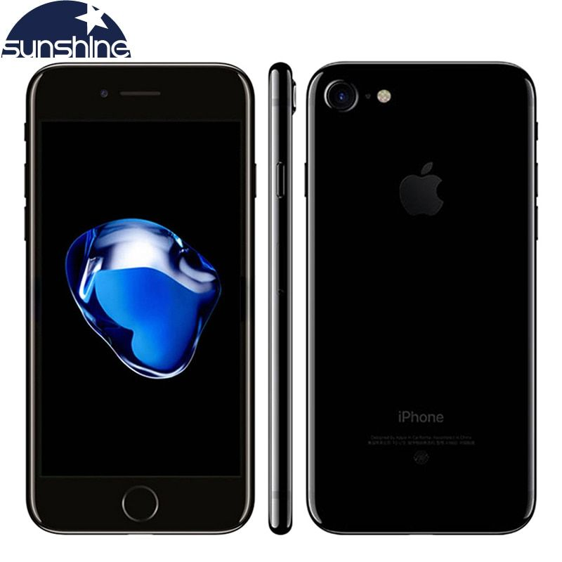 Téléphone portable d'origine Apple iPhone 7 4G LTE IOS 10 Quad Core 2G RAM 256 GB/128 GB/32 GB ROM 4.7 ''12. 0 MP Smartphone avec empreinte digitale