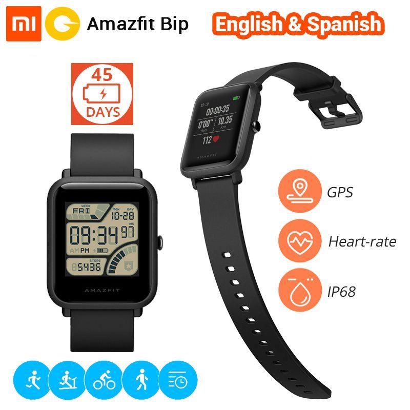 Xiaomi Huami Smart Watch Amazfit Bip Bluetooth Smartwatch Sports Watch Pace Lite GPS Heart <font><b>Rate</b></font> 45 Days Battery IP68 Waterproof