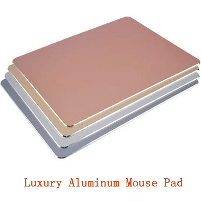 Luxe aluminium métal mince grand jeu tapis de souris PC ordinateur portable jeu tapis de souris pour Apple MackBook CS GO dota 2 lol
