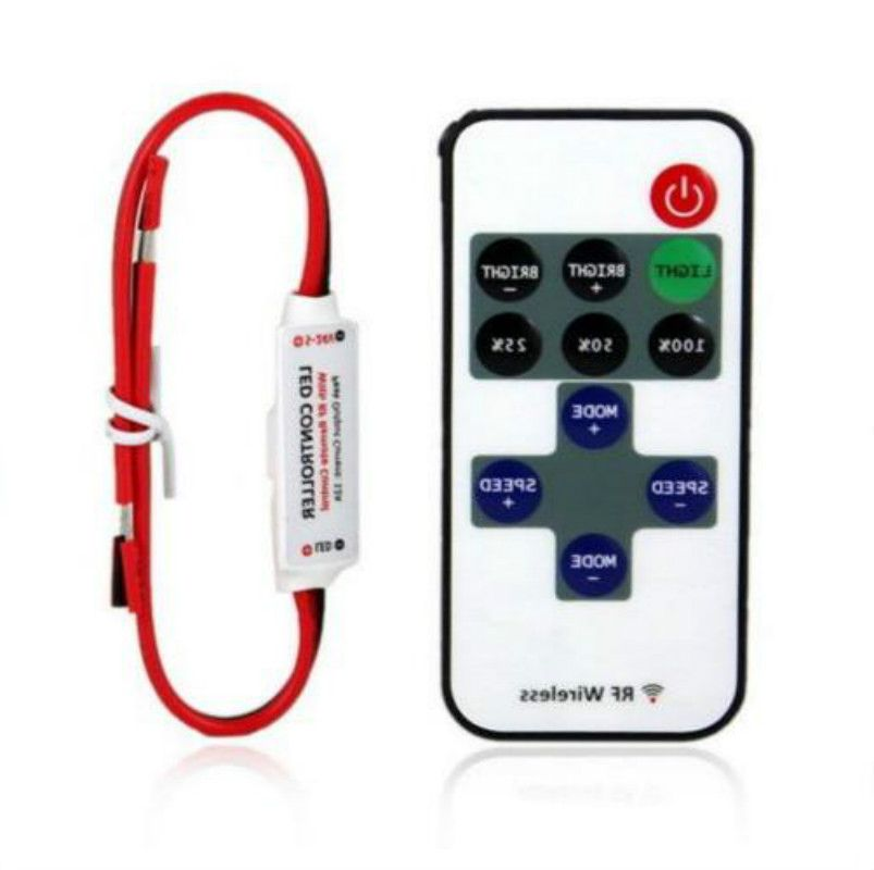 1 or 2pcs 12V RF Wireless Remote Switch Controller Dimmer 10-level Dimmer For Mini LED Strip Light
