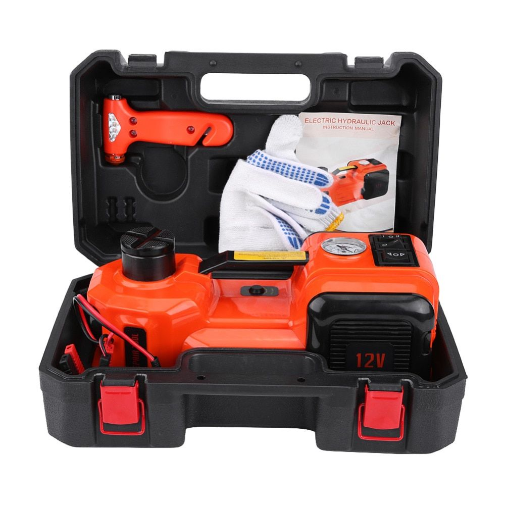 5Ton 12V DC Lift Jack 15-45cm Automotive Car Electric Hydraulic Floor Jack Lift Garage and Emergency Equipment Maintenance Tools