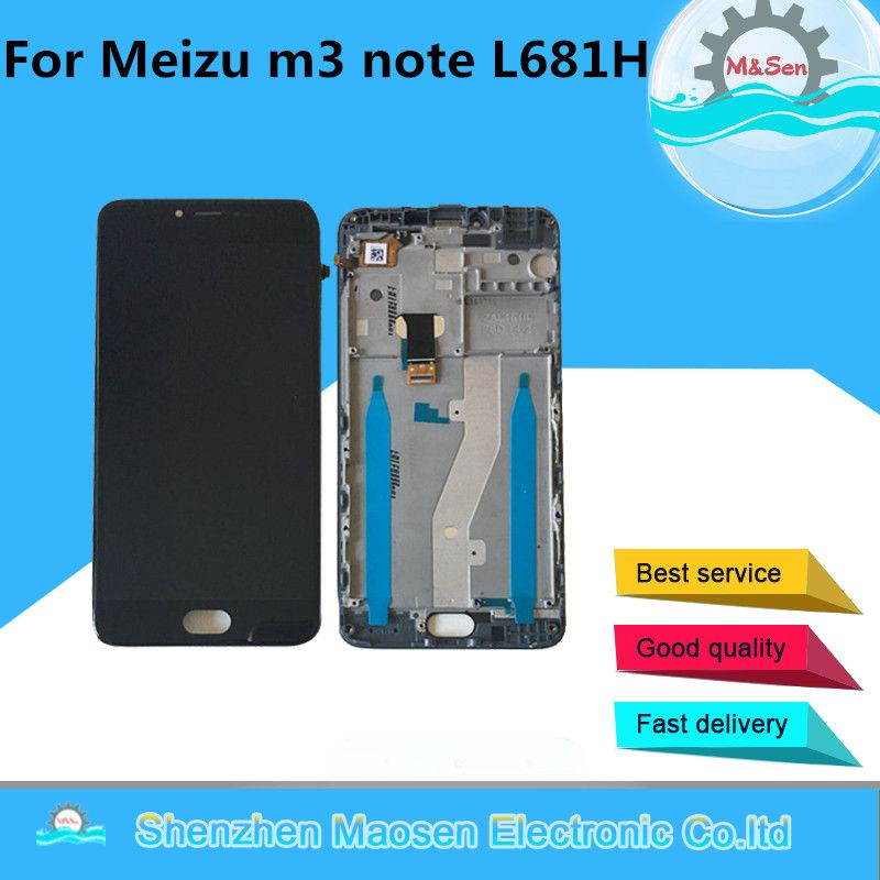 M&Sen For Meizu m3 note L681H L version LCD screen display+touch digitizer with frame free shipping