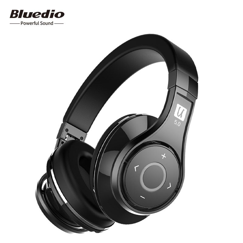 Bluedio U(UFO)2 High-end Bluetooth Wireless Headphone with Voice control APTX Patented 8 Drivers HiFi Over-ear Headset with Mic