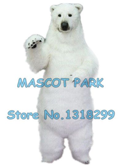 realistic polar bear mascot costume adult size high quality fur white polar bear theme anime cosply costumes carnival 2969