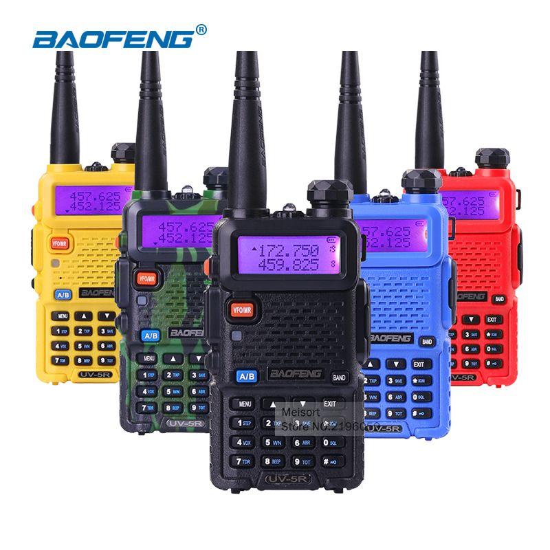 (2 pcs) baofeng uv5r Talkie-walkie uv-5r Portatif Bi-bande 5 w Radio Bidirectionnelle Pofung UV 5R Talkie-walkie Tenu Dans la main radio