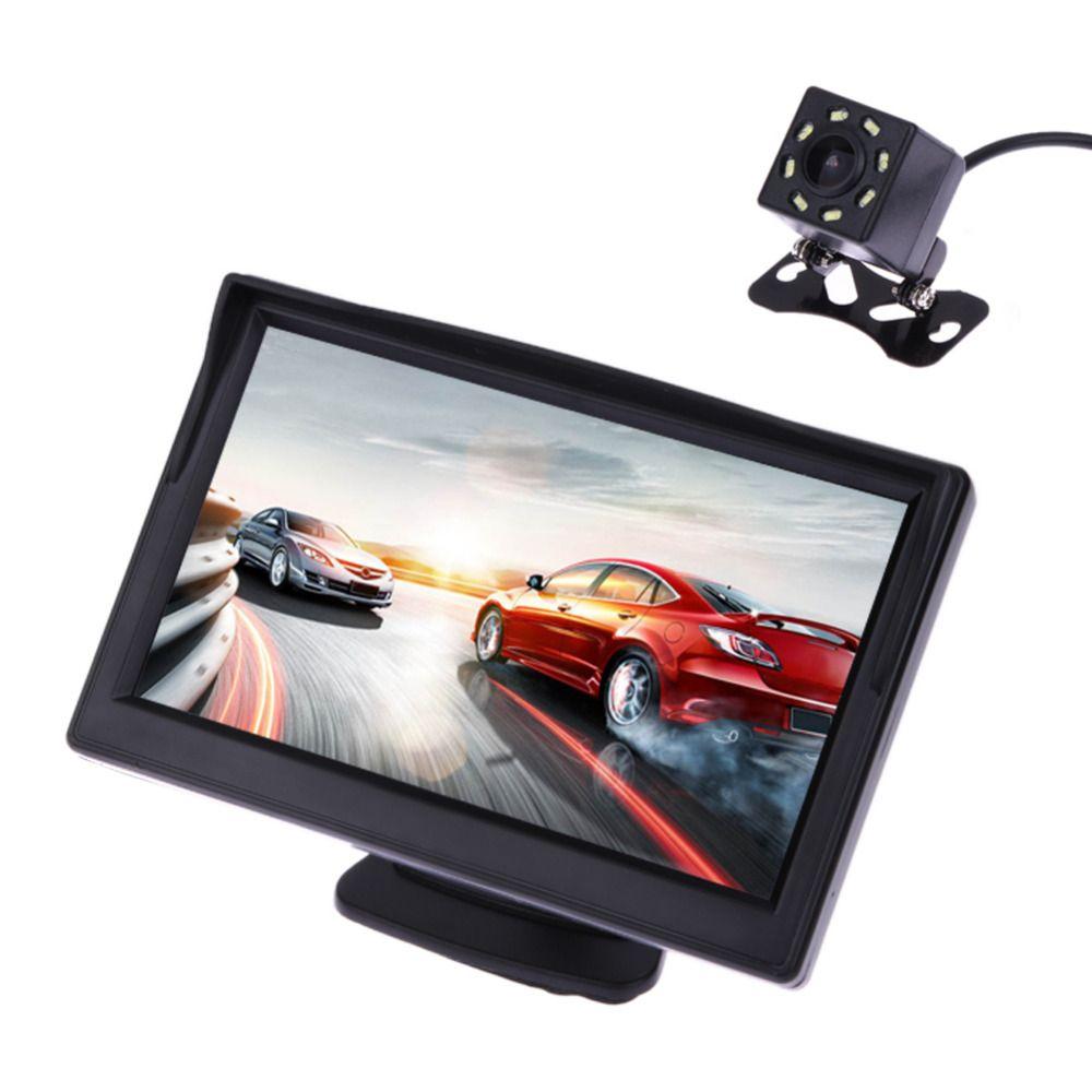 VODOOL 5Inch TFT LCD Car Rear View Display Monitor Waterproof Night Vision Reversing <font><b>Backup</b></font> Rearview Camera Quality Car Monitors