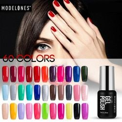 Modelones 7ML Classic Red Color Gel UV Nail Gel Lacquer Soak Off UV Lamp Nail Gel Polish Long Lasting Glitter UV Nail Polish