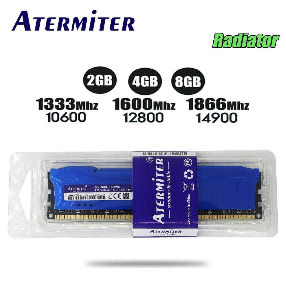 Nouveau 8 GB DDR3 1600 Mhz 1866 Mhz 1333 MHz radiateur ordinateur de bureau DIMM mémoire RAM 240 broches (pour intel amd) 6 gb 4 gb 8g 1866 1600 1333