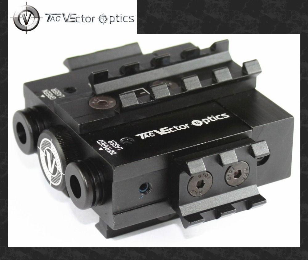 Vector Optics Viperwolf Tactical 5mW Green Laser Sight & IR Laser Sight Combo AR M4 Designator POINTER ILLUMINATOR fit 20mm Rail