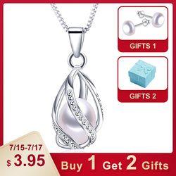 Классический Специальный дизайн 8-9 мм Натуральная жемчужная подвеска клетка ожерелье с 45 см серебряной цепочкой 4 цвета Оптовая Продажа пов...