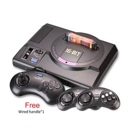 Hot HDMI 16 bit  Video Game Console SEGA MEGA DRIVE 1 Genesis High definition HDMI TV Out with 2.4G wireless controlle cartridge