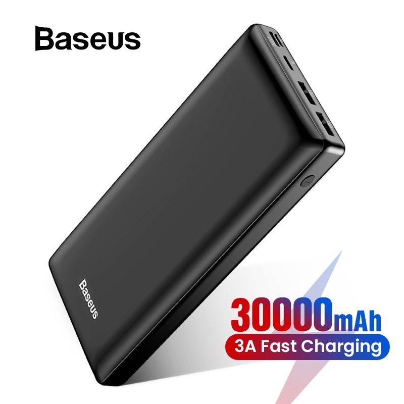 Baseus 30000 mAh batterie externe pour iPhone Samsung Xiaomi Powerbank USB C PD charge rapide batterie externe Pack USB C harger banque