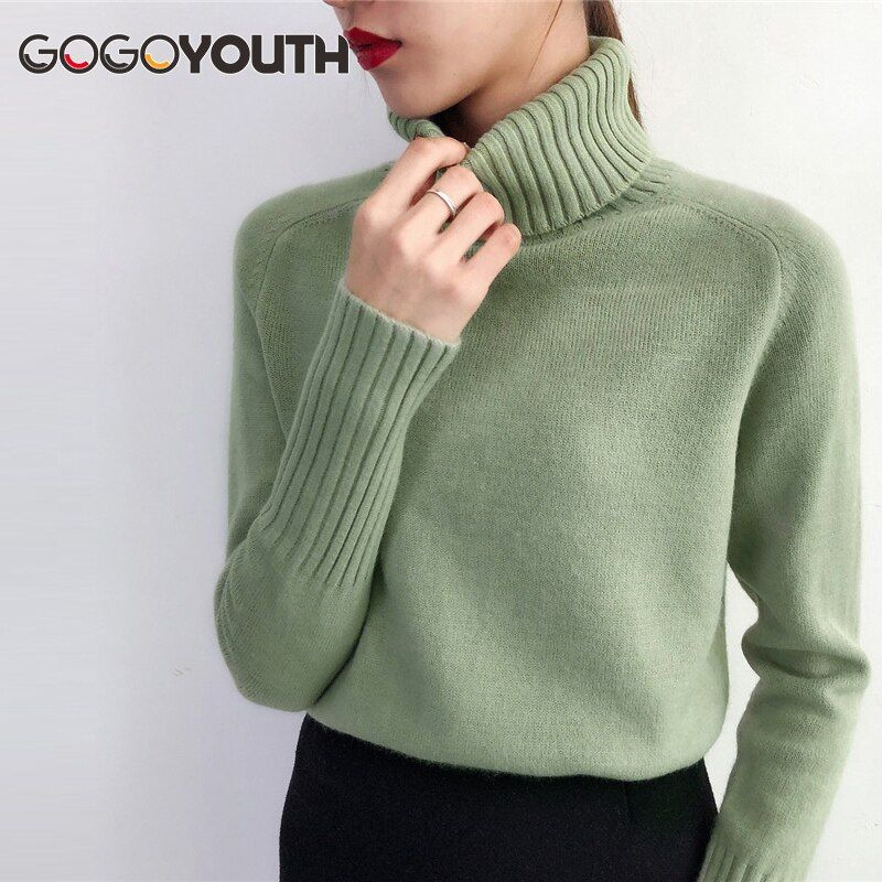 Gogoyouth Sweater Female 2019 Autumn Winter Cashmere Knitted Women Sweater And Pullover Female Tricot Jersey Jumper Pull Femme