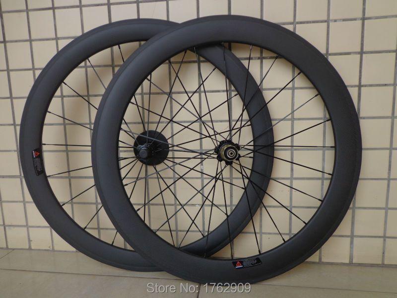Newest 700C front 50mm+rear 60mm tubular rims Road bicycle matte 3K full carbon bike wheelset hubs aero spokes skewers Free ship