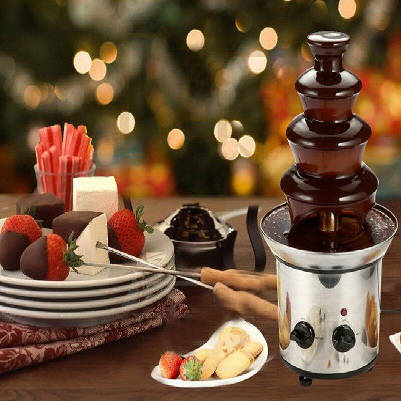 Four floors DIY Chocolate fountain waterfall Automatic melting tower Party event