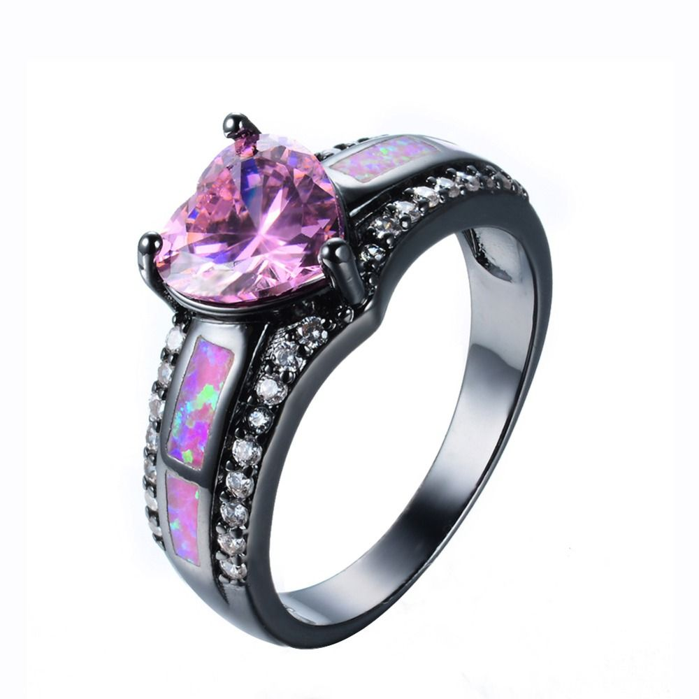 Sue Phil New 2018 Women Rings Fashion Heart Crystal Rings female wedding rings drop shipping