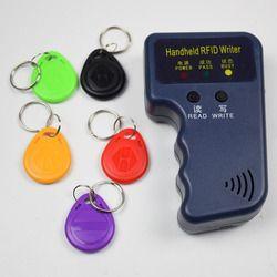 Handheld 125 KHz RFID Duplikator Copier Writer Programmer Reader EM4305 T5577 Dapat Ditulis Ulang ID Keyfobs Kategori Kartu